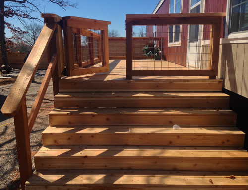 Large Raised Deck With Railing, Gate and Steps In Pottsboro
