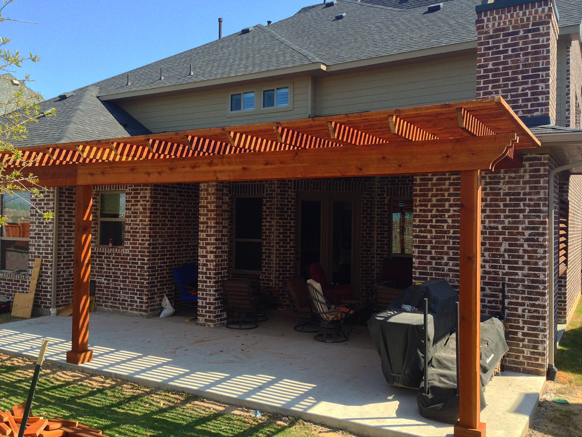 Back Patio Arbor In Frisco Texas