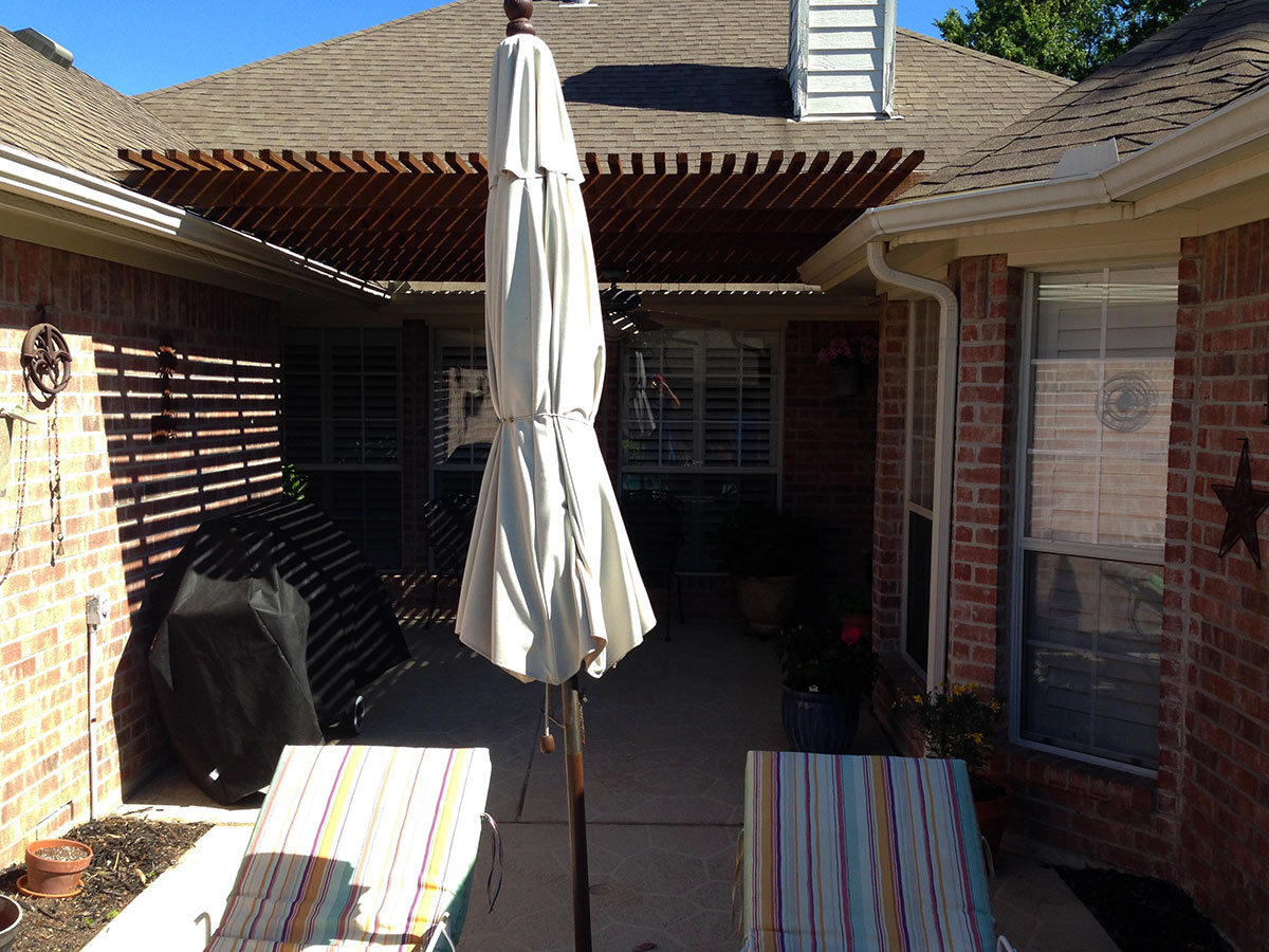 Back Patio Pergola Arbor In Allen Texas Hundt Patio