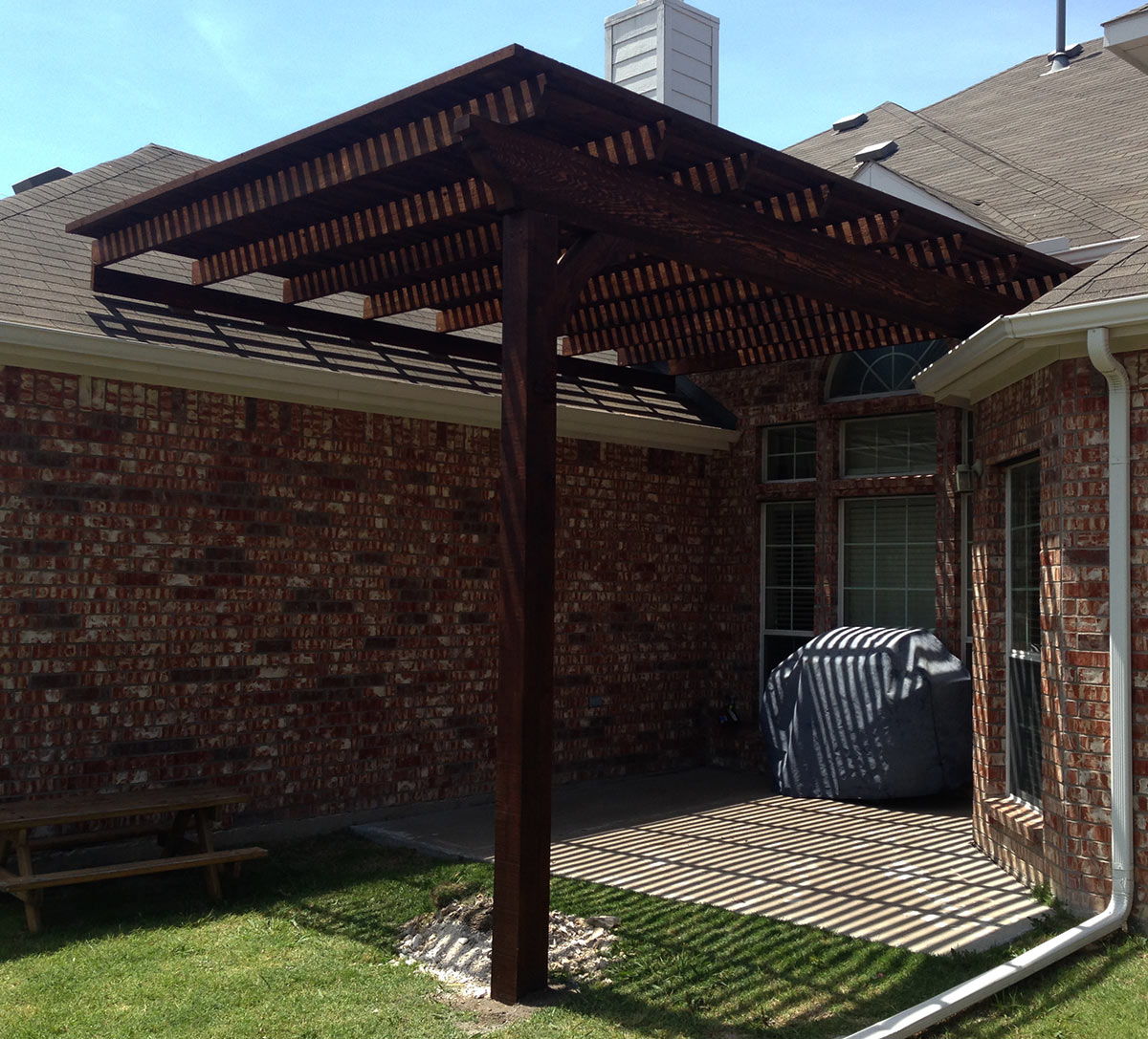 Patio Covers Frisco Tx: Single Post Backyard Arbor Pergola In Frisco Texas