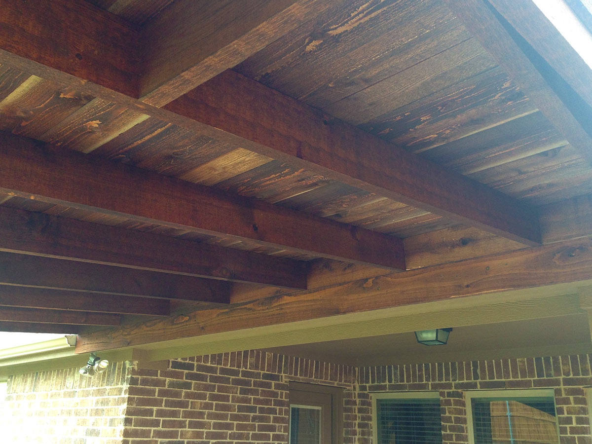 Attached Shed Roof Patio Cover In Aubrey Texas Hundt