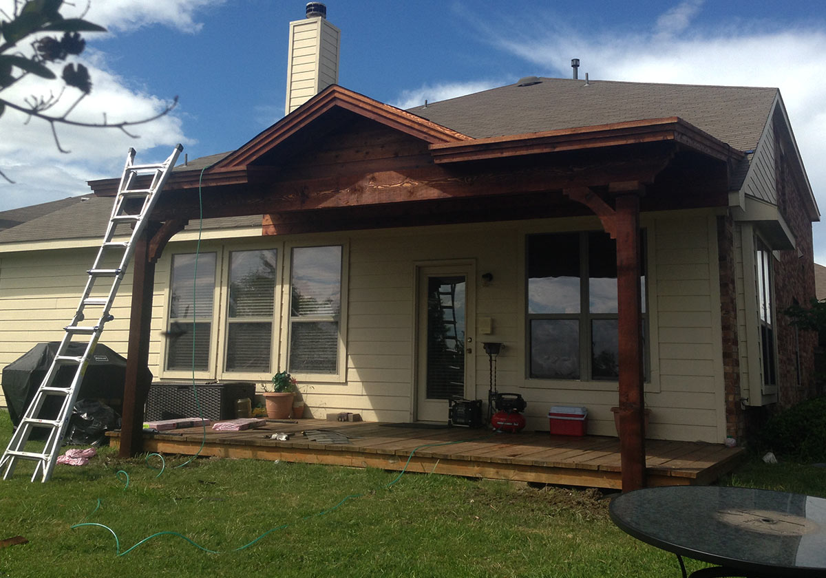 Attached Patio Cover With Gable In Van Alstyne