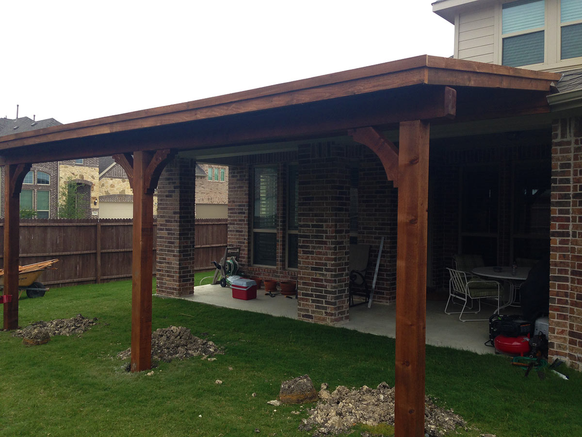 Charming McKinney Patio Cover Custom Built And Attached To Fascia