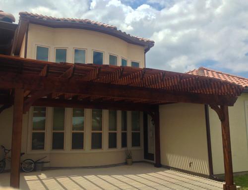 Freestanding Plano Arbor / Pergola Covers Beautiful Patio