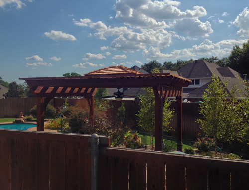 Poolside Arbor (Pergola) With Cupola In Madill