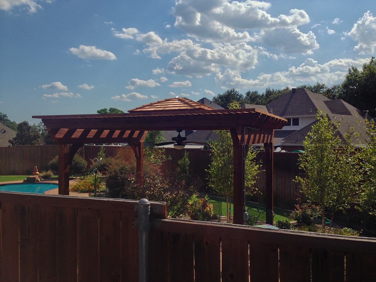 Poolside Arbor Pergola In Madill Hundt Patio Covers