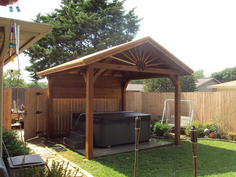 Freestanding archives page 2 of 3 hundt patio covers for Free standing hot tub deck