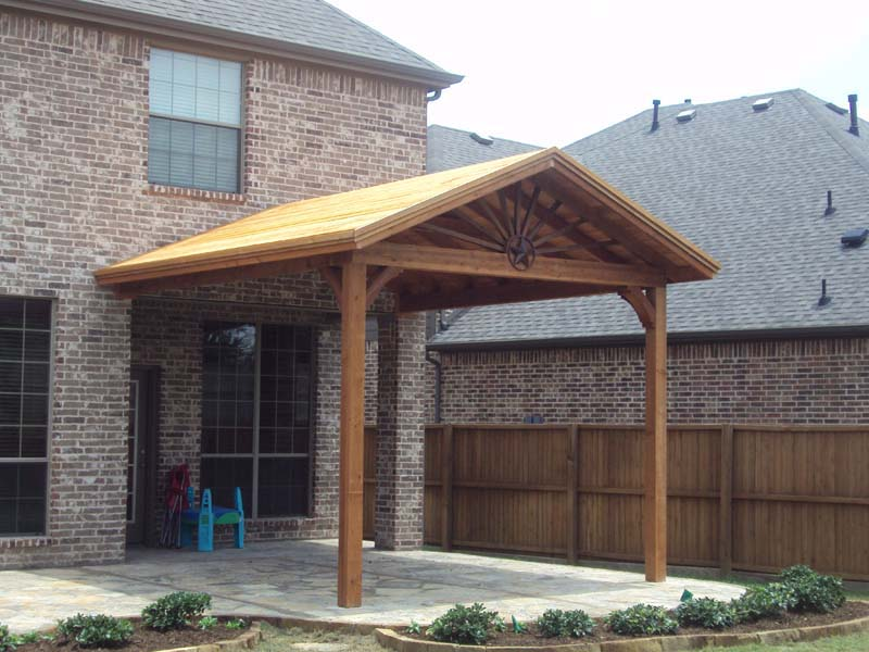 Gable To Gable Patio Cover With Starburst