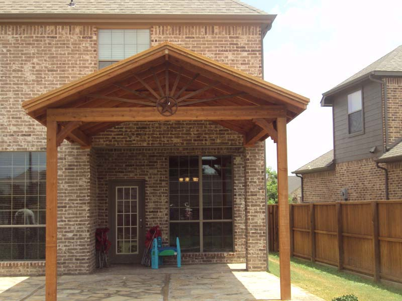 Gable To Gable Patio Cover With Starburst Hundt Patio
