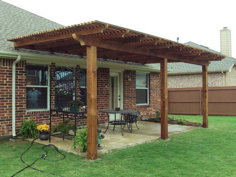 Basic Patio Arbor Transforms Patio Hundt Patio Covers