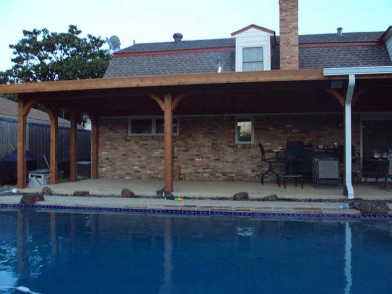Large Poolside Patio Cover Attached To Roof Hundt Patio