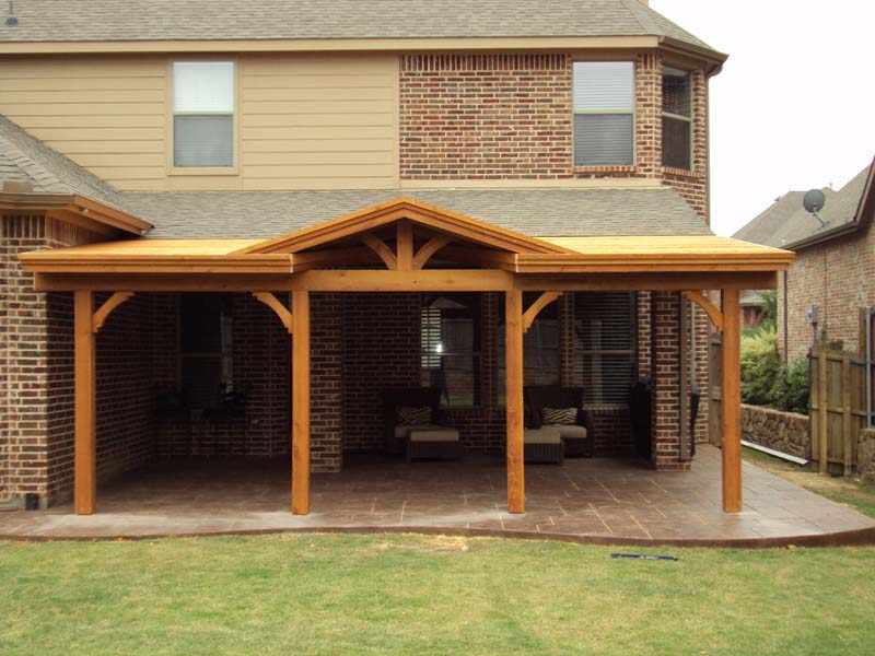 Superb Long Patio Cover With Gable Attached To Fascia