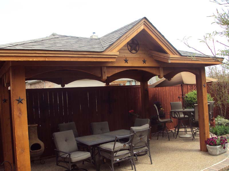 Freestanding Patio Cover With Single Gable Hundt Patio