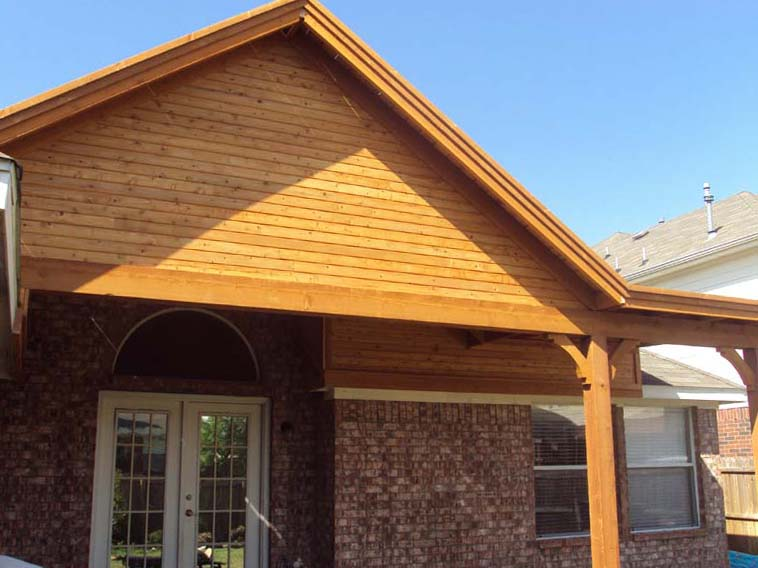 Large Gable To Gable Patio Cover With Flat Section Hundt