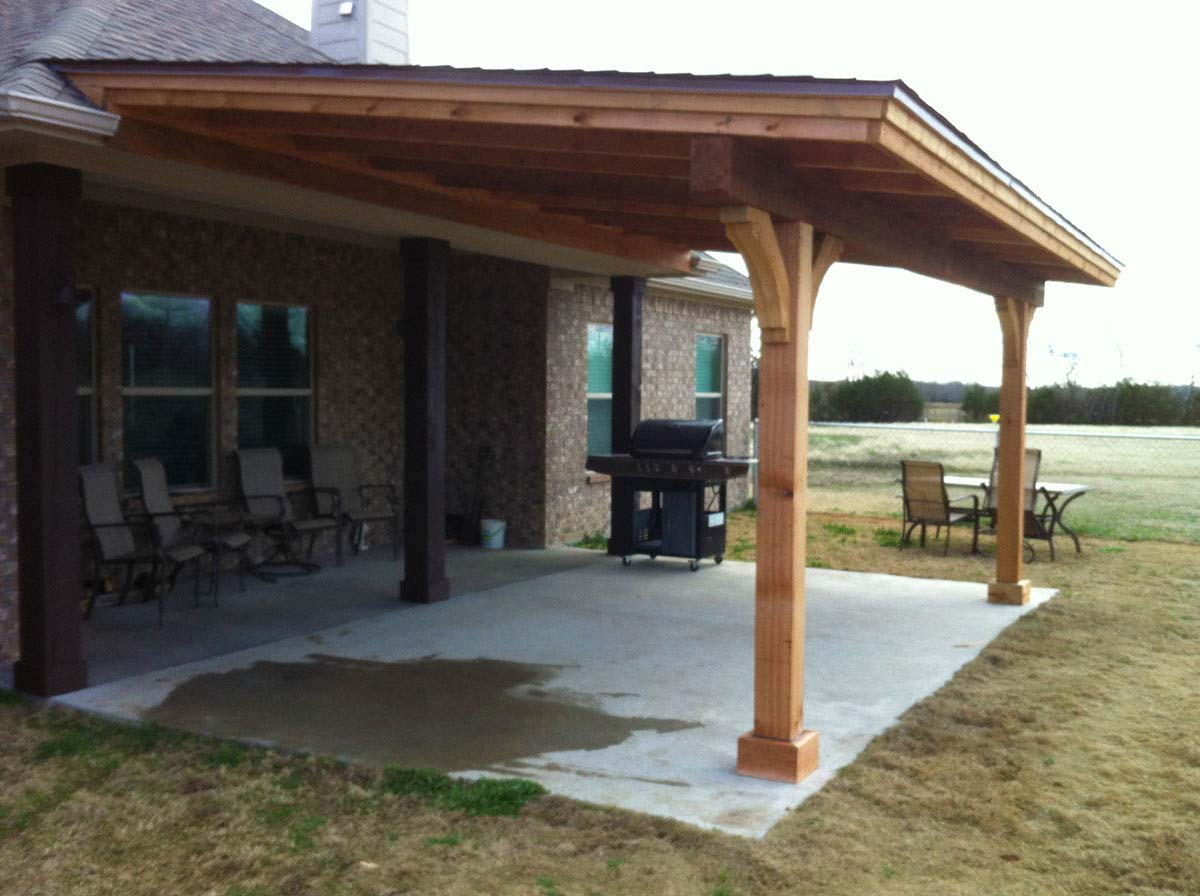 Simple royce city patio cover with shingles hundt patio for Patio cover plans
