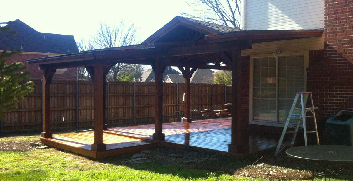 Richardson Patio Cover And Deck With Gable And Shingles