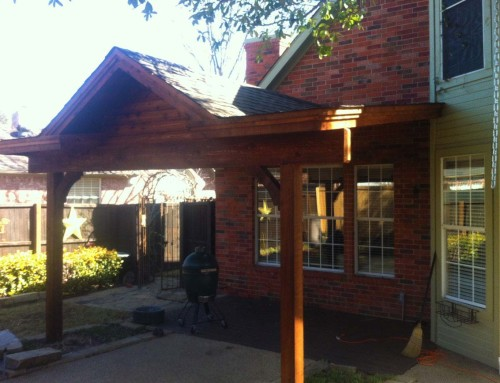 Attached Patio Cover With Gable in McKinney Texas