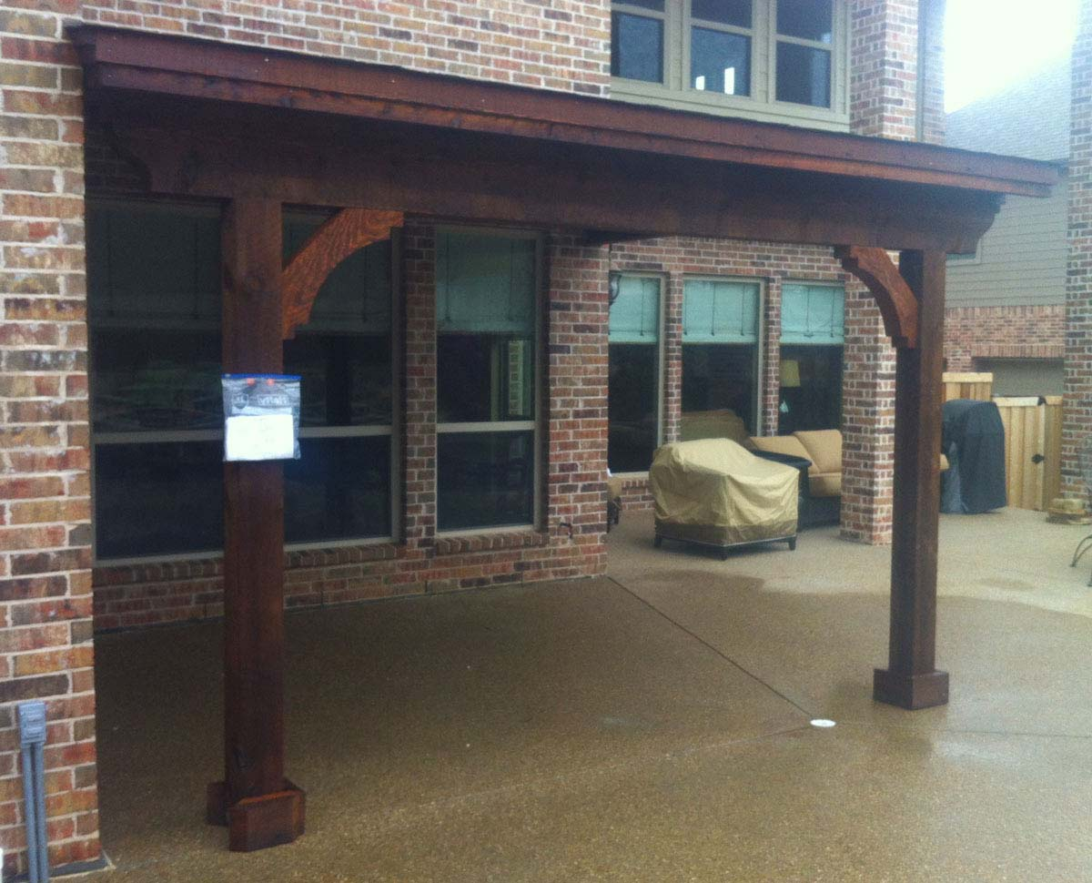 Mckinney Patio Cover With Dark Stain Hundt Patio Covers