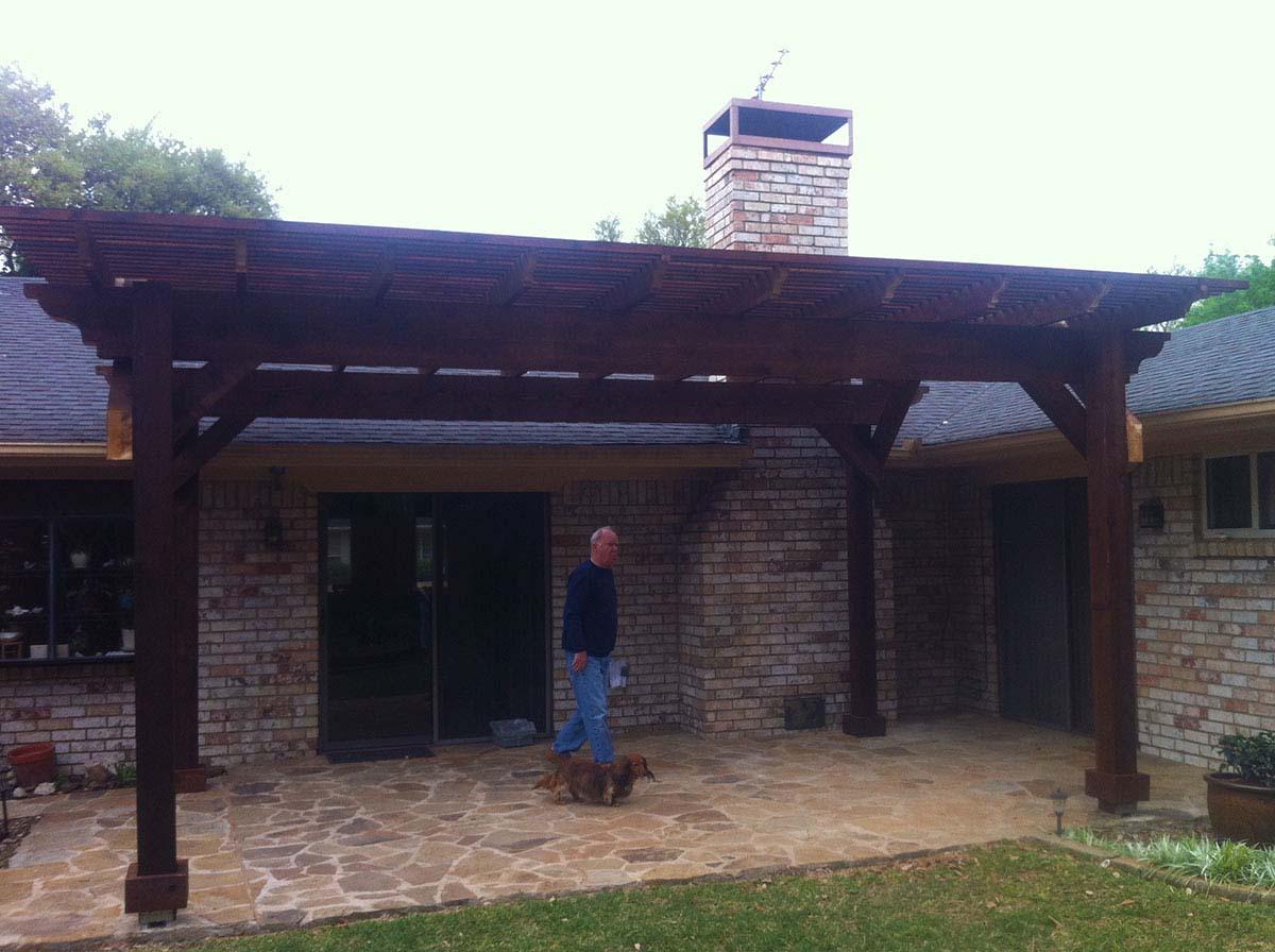 Dark Freestanding Arbor Pergola In Plano Texas Hundt