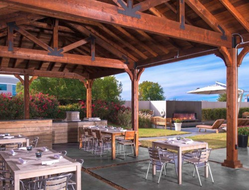 Plano Poolside Patio Cover at the NYLO Plano at Legacy