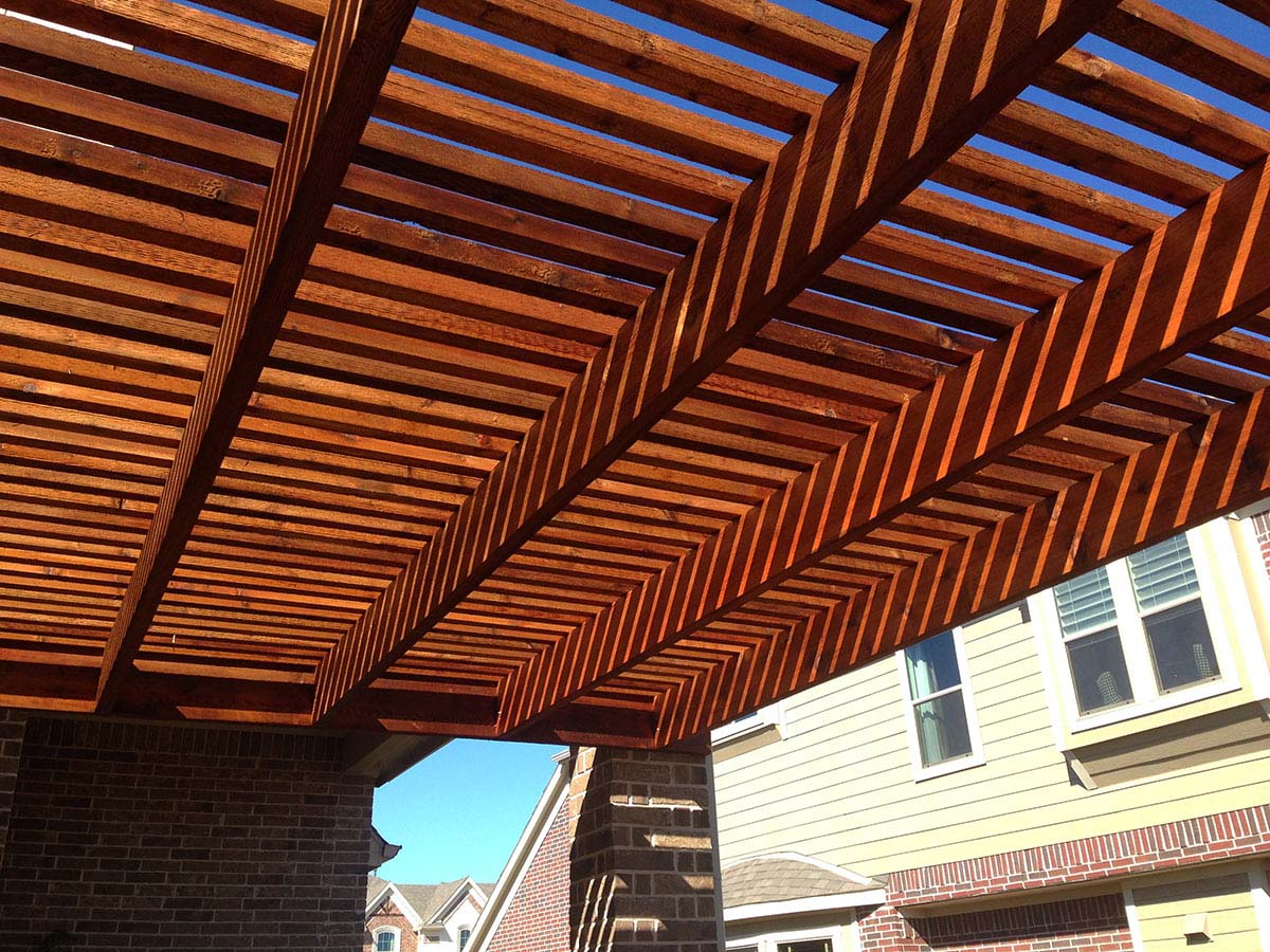 Allen Texas Attached Arbor Pergola With Corbels Hundt