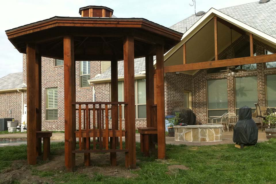 Benches Freestanding Gazebo Plano Pool Royce City