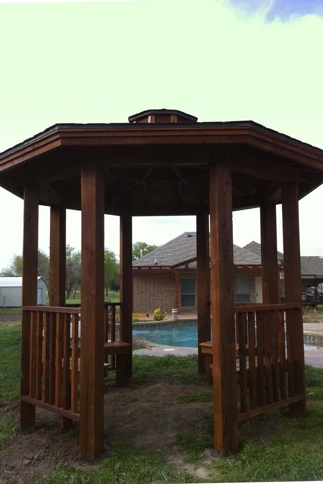 Benches Freestanding Gazebo Plano Pool Royce City