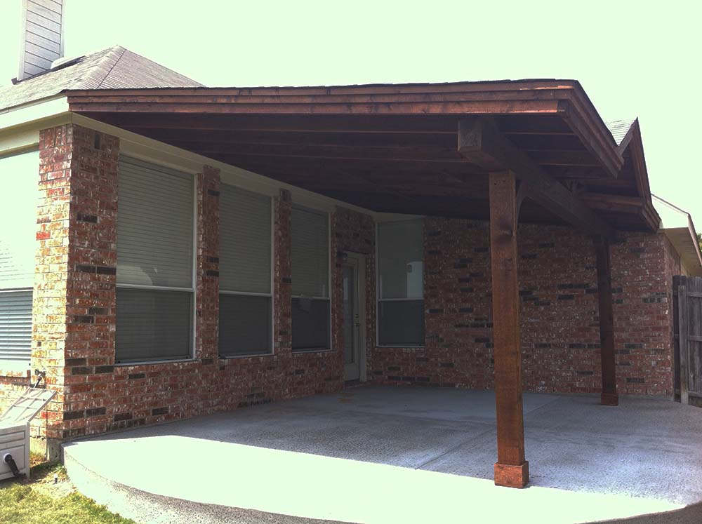 Backyard Patio Cover In Denton Texas Hundt Patio Covers