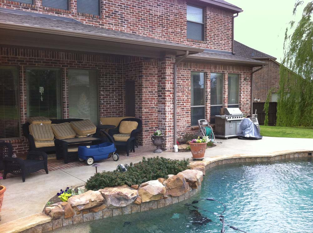 McKinney Patio Cover Pool