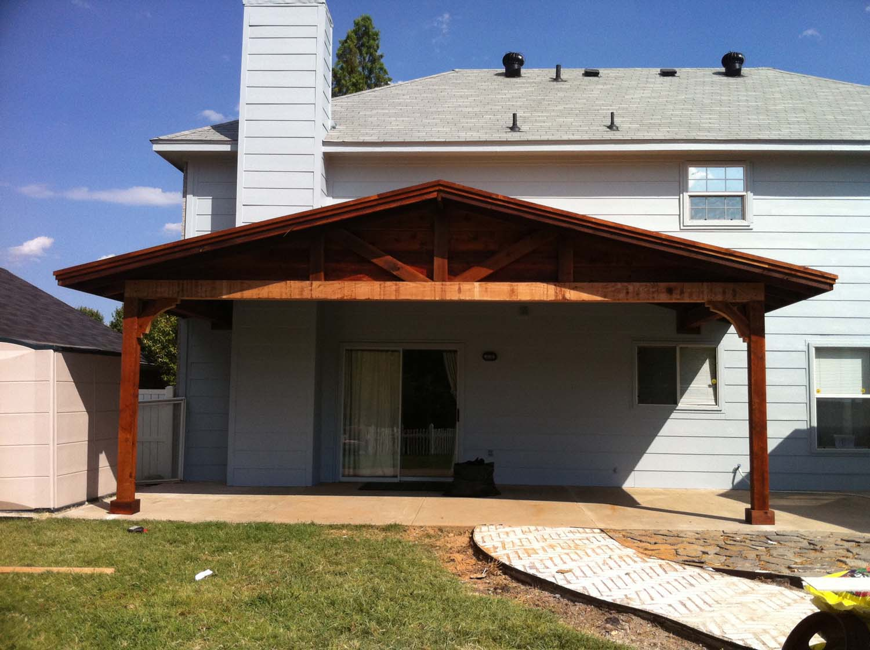 Pictures Of Backyard Patio Covers : Backyard Patio Cover Shades Large Backyard  Sherman TX  Hundt Patio