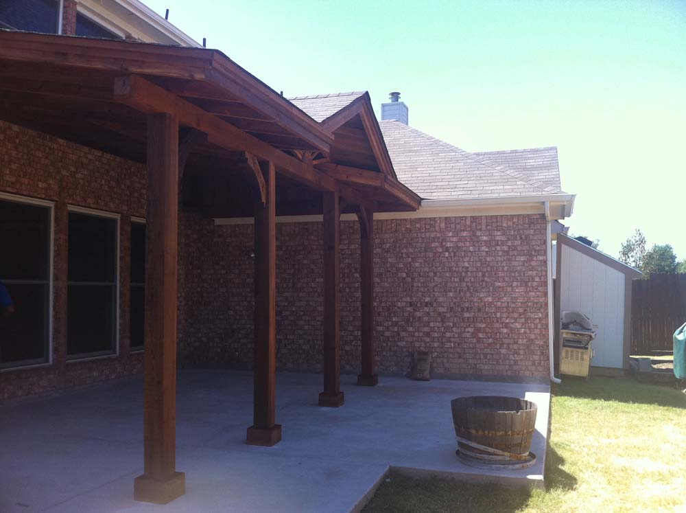 Wylie Two Story House Needed Patio Cover To Shade Large Patio Hundt Patio Covers And Decks