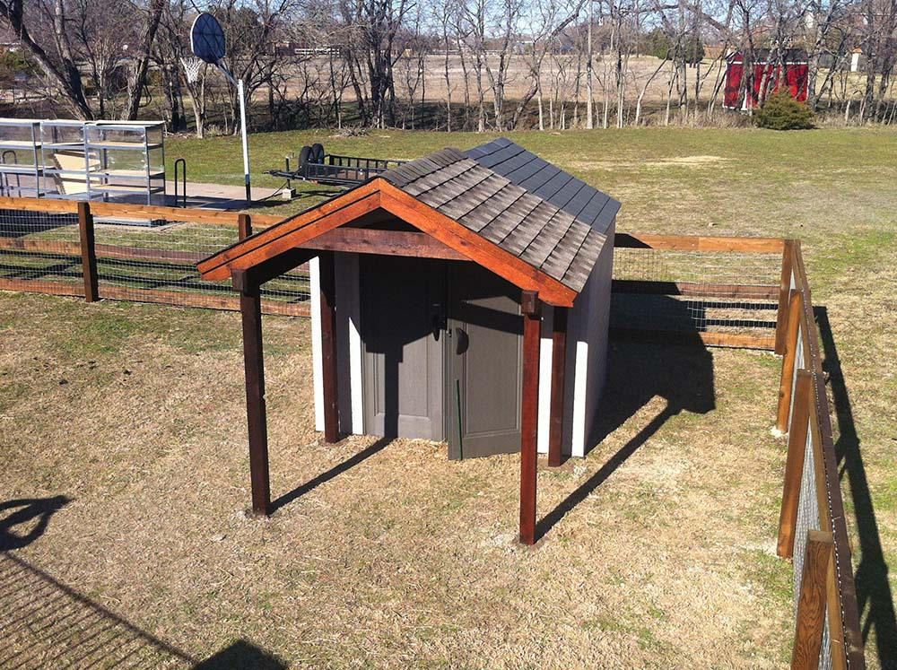Small Awning For Freestanding Shed In Melissa Texas ...