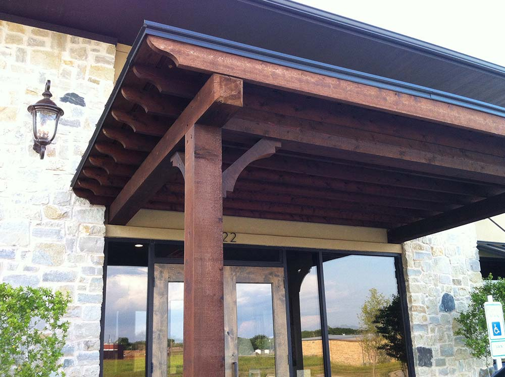 Van Alstyne Flat Stylish Patio Cover Serves As Business