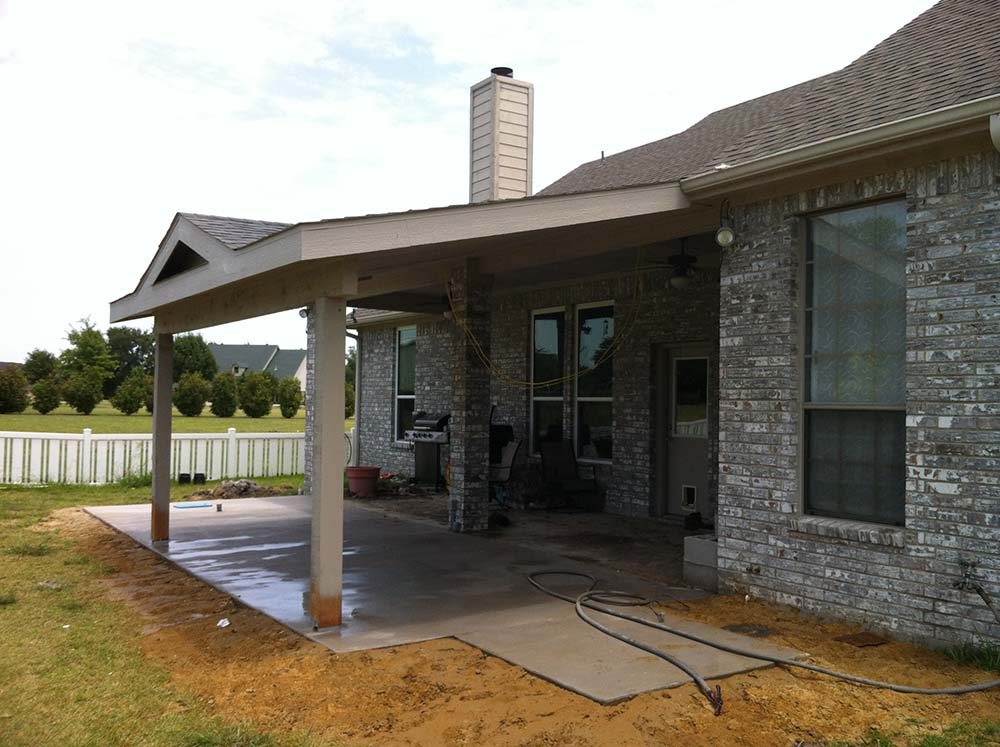 Painted Patio Cover Roof To Gable U2013 Caddo Mills