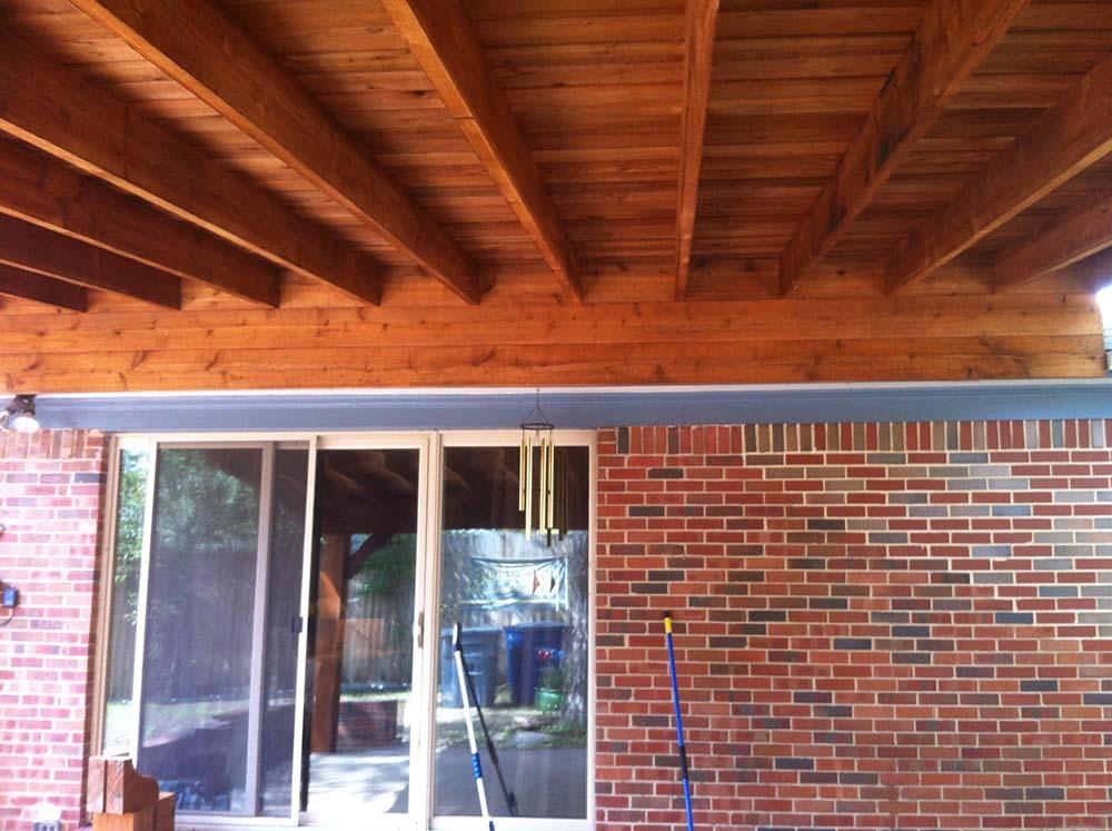Heavy Beams For Shingled Large Patio Cover In Pottsboro