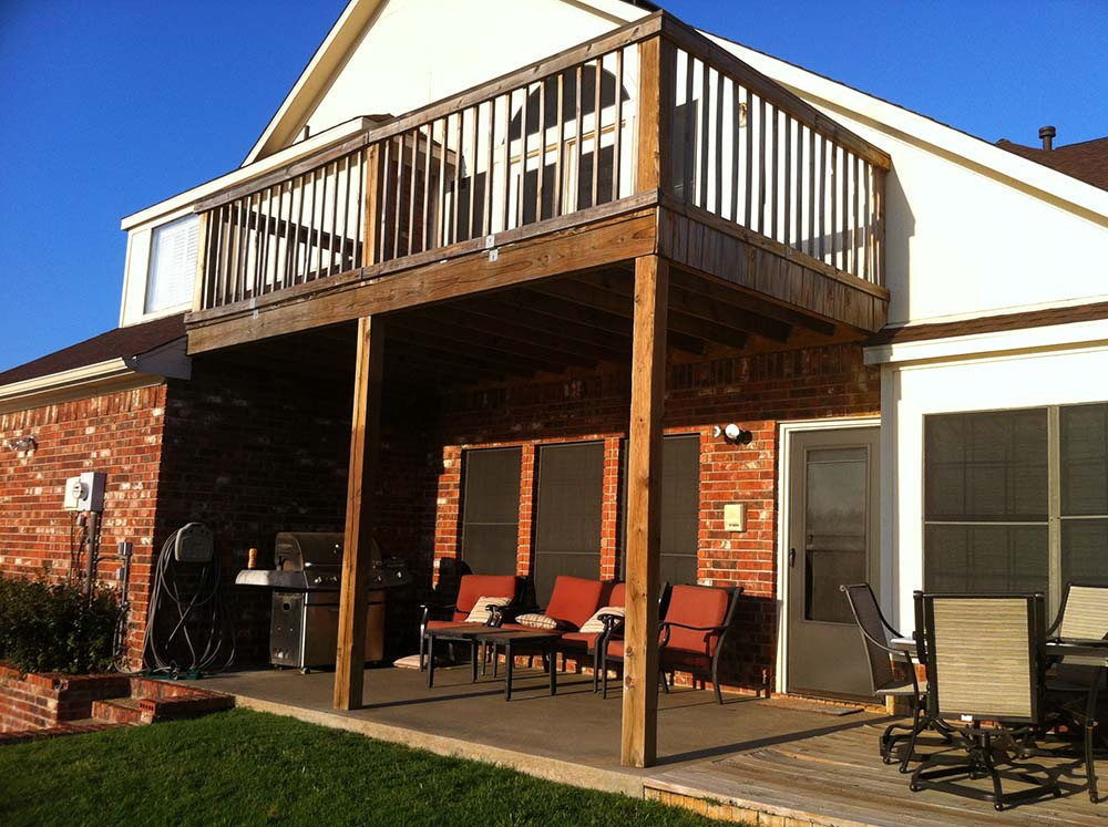 Amazing Simple Balcony Patio Cover Combo In Madill Oklahoma