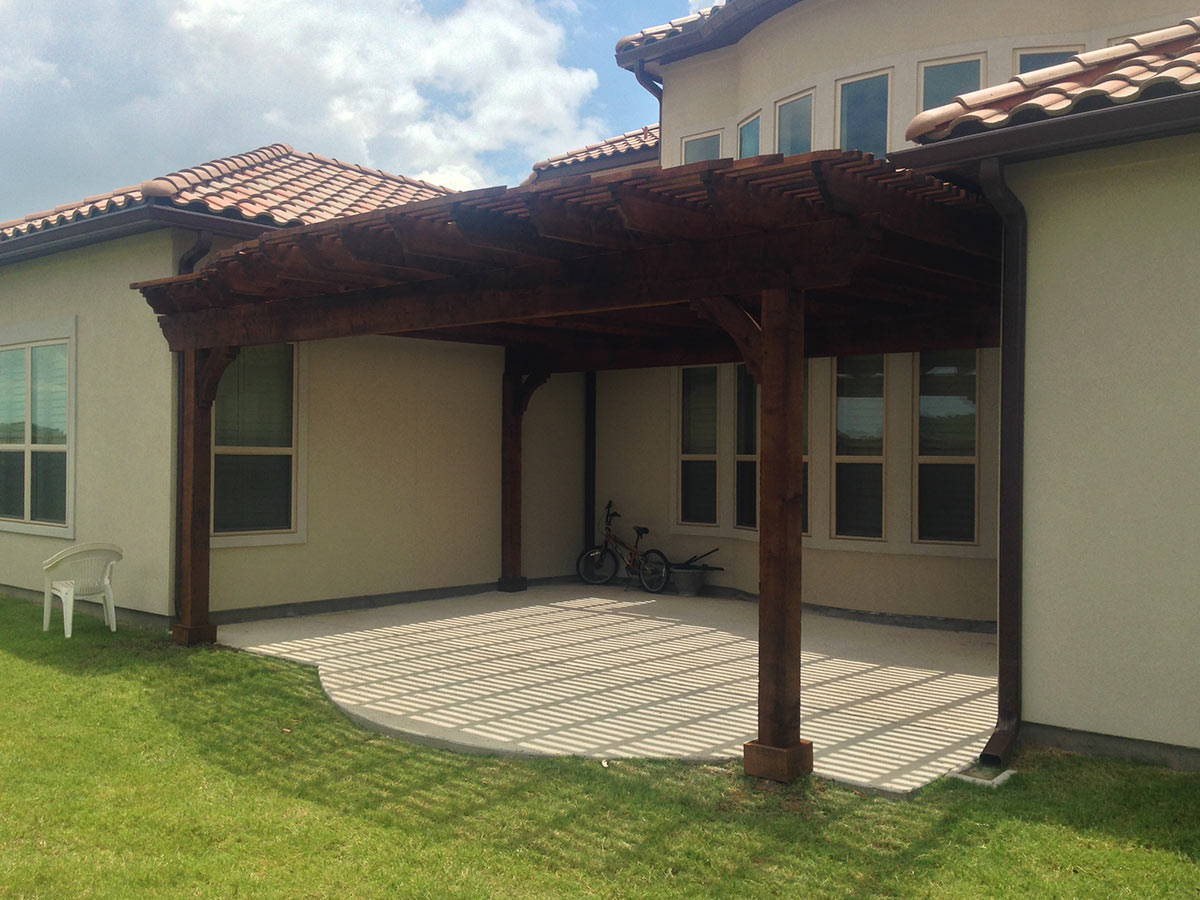 Plano Arbor Pergola Covers Beautiful Patio - Hundt Patios on House Backyard Deck id=95113
