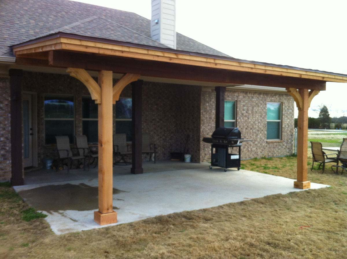 Simple Royce City Patio Cover With Shingles - Hundt Patio ... on Patio Cover Ideas For Small Backyards id=11237