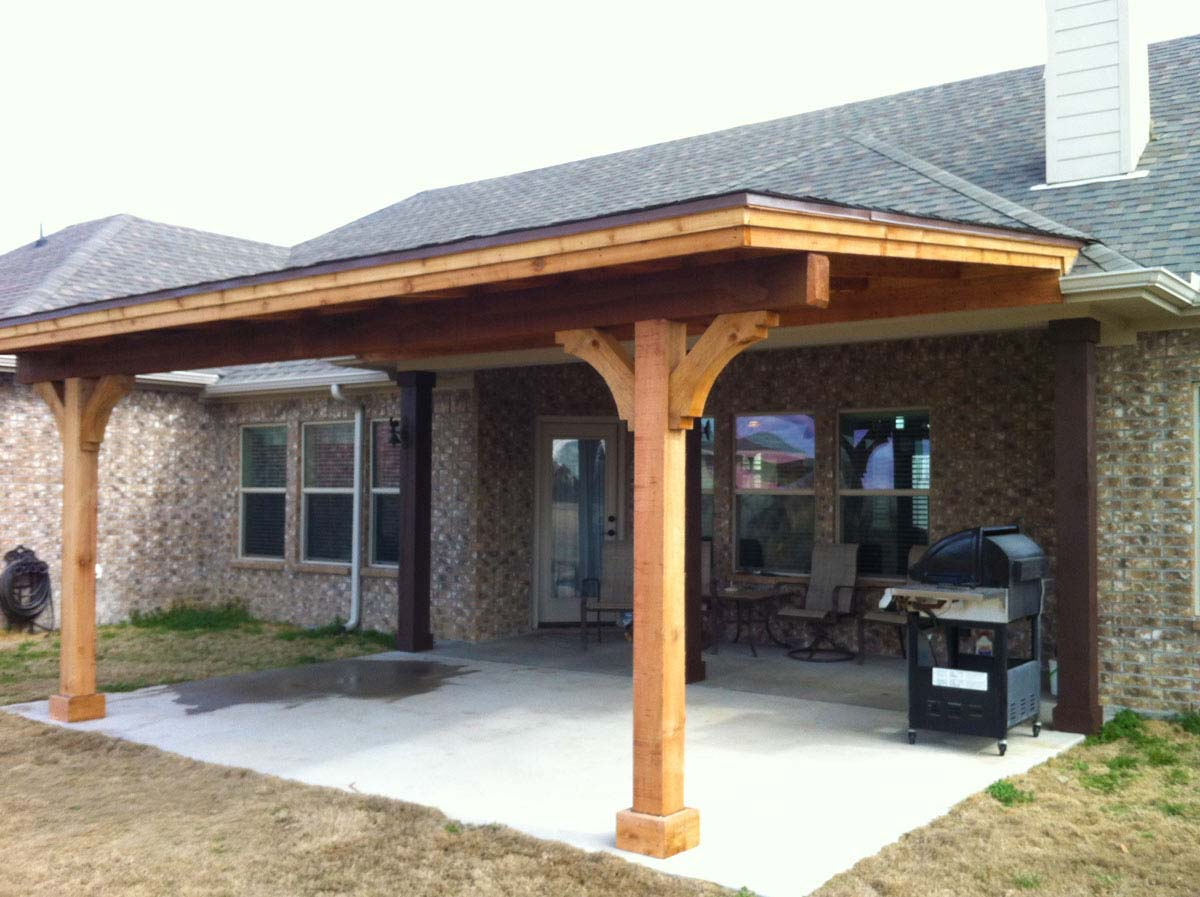 Simple Royce City Patio Cover With Shingles - Hundt Patio ... on House Backyard Deck id=37286