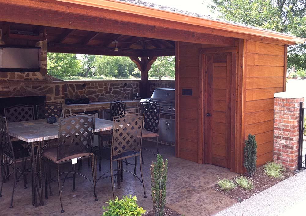Backyard Patio Cover, Outdoor Kitchen and Bathroom In ... on Backyard Patio Cover  id=52083